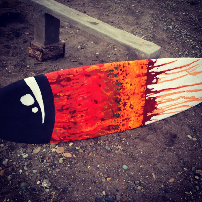 Ecuador Surfboard Art 2 by Gigi Douglas