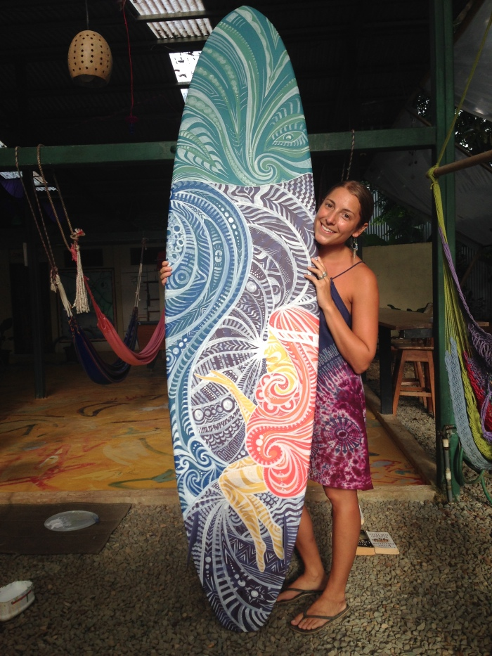 Costa Rica Surfboard Art by Gigi Douglas