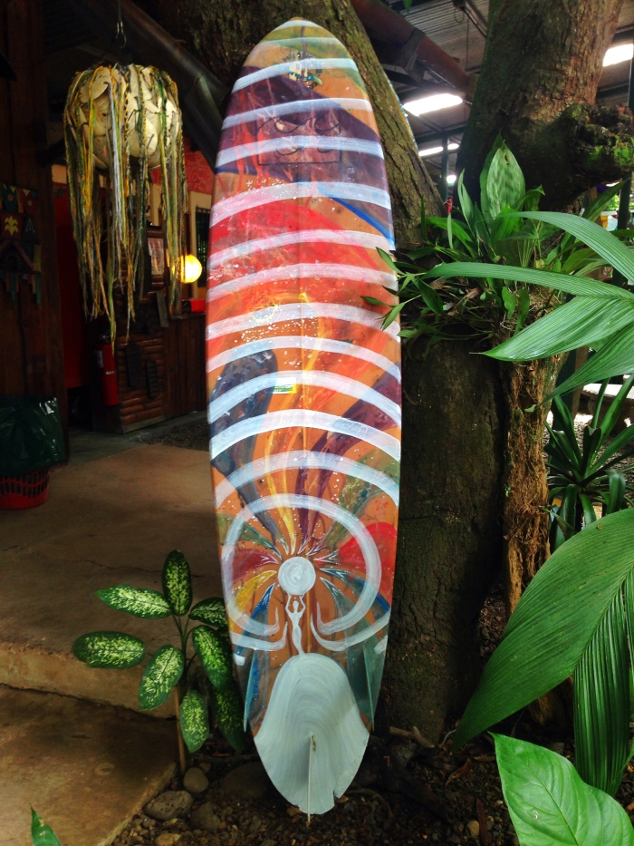Costa Rican Small Surfboard Art by Gigi Douglas