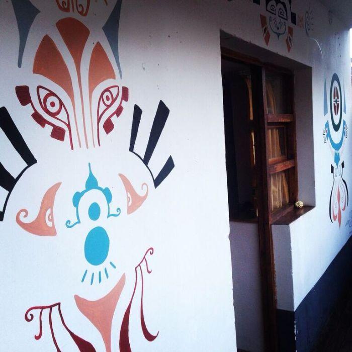 VIP House Garden Hostel Mural 2 by Gigi Douglas