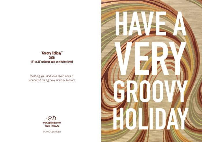 Groovy Holiday card by Gigi Douglas