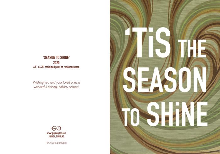 Season to Shine card by Gigi Douglas