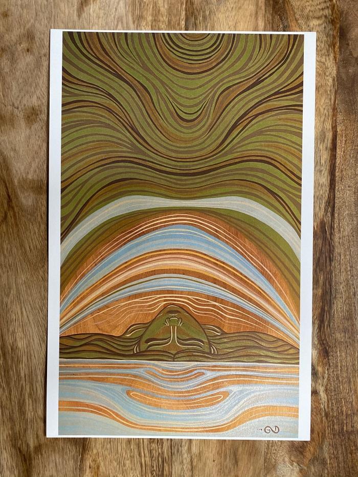 Eyes Closed, Soul Open print by Gigi Douglas